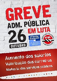 cartaz greve 26 out 18